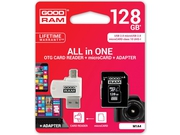 GOODRAM ALL IN ONE microSDXC 128GB Class 10+Czyt.ka - M1A4-1280R11