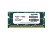 Pamięć RAM Patriot Memory Signature PSD38G16002S DDR3 SO-DIMM 8GB 1600 MHz