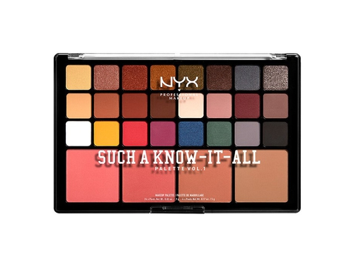 NYX SUCH A KNOW-IT-ALL SHADOW PALETTE VOL.1