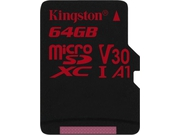 Karty pamięci MicroSD Kingston CANVAS 64GB Class 10 SDCR/64GBSP