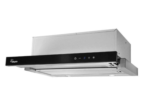 Okap teleskopowy AKPO WK-7 LIGHT GLASS TOUCH 60 INOX CZARNY