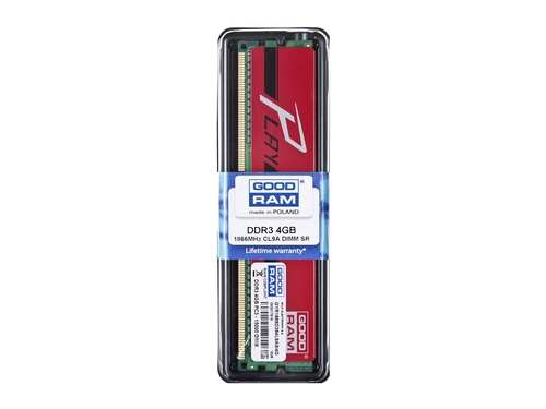 Pamięć RAM Goodram DDR3 Play 4096MB PC1866 Red CL9 512x8 - GYR1866D364L9AS/4G