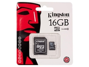Karta pamięci z adapterem MicroSDHC Kingston 16GB Class 4 SDC4/16GB