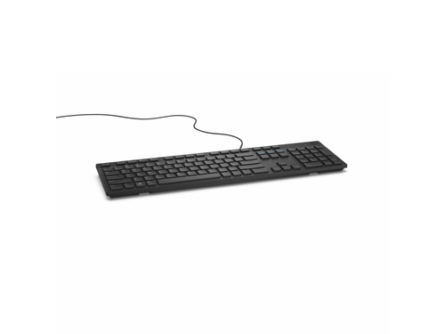 Klawiatura Dell : US-Euro (Qwerty) Dell KB216 Quietkey USB, black Czarna - 580-ADHK