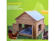 Small animal hutch for rabbits or hens, 105 x 100 x