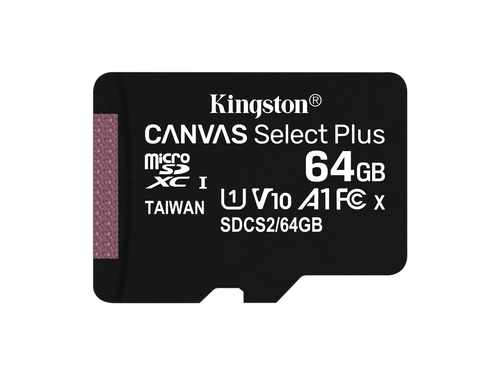 KINGSTON microSDXC Canvas Select Plus 100R + ADP - SDCS2/64GB