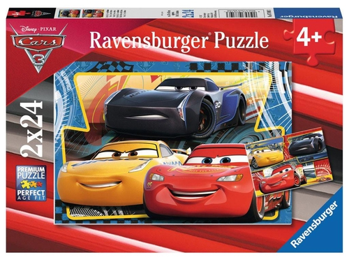 PUZZLE CARS 3 FLASH, CRUZ, JACKSON 2X24 EL. - 4005556078103