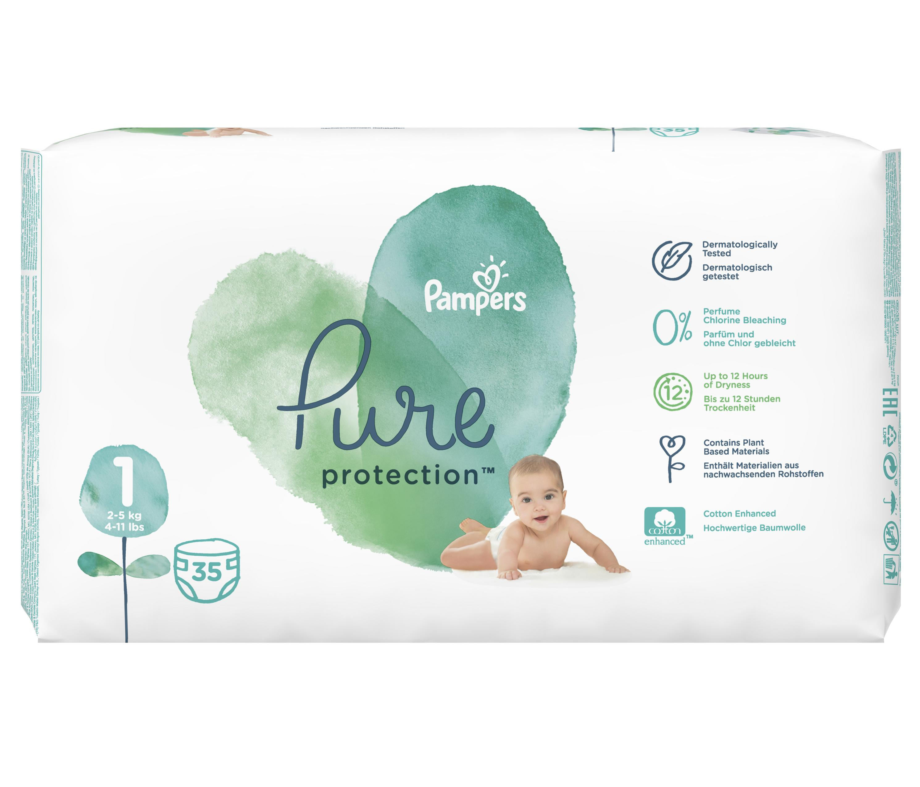 #Pampers Pure Protect Pieluchy Rozm. 2, 4-8kg, 39szt