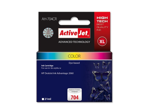 Tusz Activejet AH-704CR zamiennik HP 704 CN693AE Premium 21 ml kolor