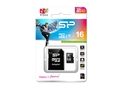 SILICON POWER MICRO SDHC 16GB Class 10 + adapter - SP016GBSTH010V10SP
