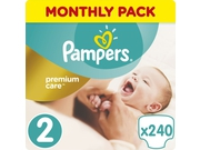 Pampers Pieluchy Premium Monthly Box S2 240