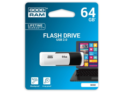 Pendrive GoodRam Black&White 64GB USB 2.0 UCO2-0640KWR11