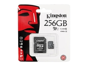 Karta pamięci KINGSTON MICRO SD SDC10G2/256GB + ADAPTER