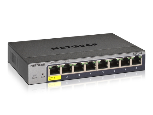 NETGEAR GS108T v3 8P GE SMART MANAGED PRO SWITCH - GS108T-300PES