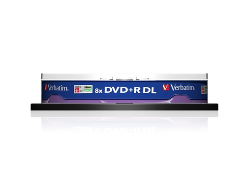 DVD+R VERBATIM DL 8.5GB 8X MATT SILVER SP 10SZT - 43666