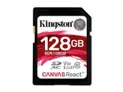 KINGSTON SDXC CANVAS REACT UHS-I SDR/128GB V30 A1