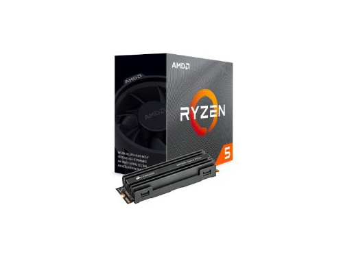 Procesor AMD Ryzen 5 3400G + DYSK SSD Corsair MP600 M.2 1TB NVMe PCI Express 4.0 - YD3400C5FHBOX