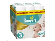 Pampers Pieluchy Premium Monthly Box S3 204