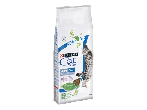 PURINA CAT CHOW FELINE 3IN1 Indyk 1.5kg