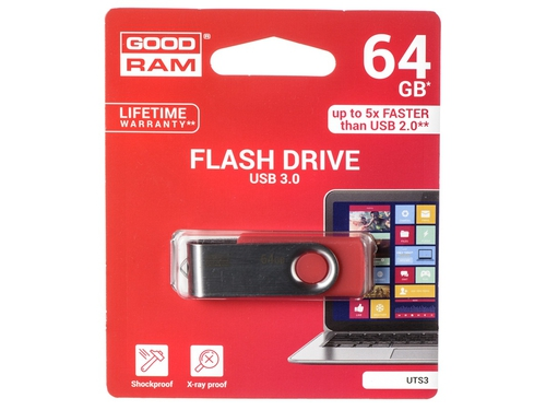 Pendrive GoodRam Twister 64GB USB 3.0 UTS3-0640R0R11