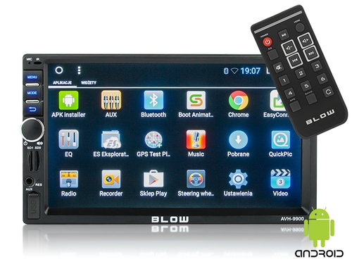 "BLOW RADIO AVH-9900 2DIN 7"" GPS ANDROID - 78-227#"