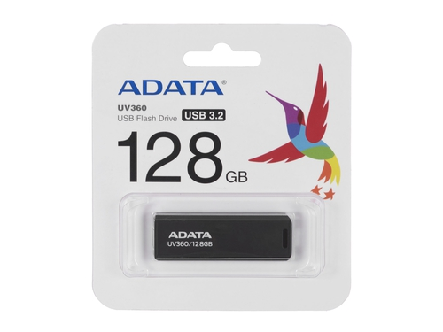 ADATA FLASHDRIVE UV360 128GB USB3.2 Black - AUV360-128G-RBK
