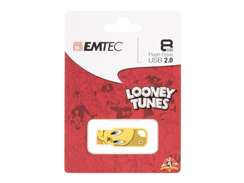Pendrive EMTEC Tweety 8GB USB 2.0 ECMMD8GM752L100