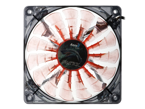 Wentylator do obudowy Aerocool Shark Fan Evil Black LED AEROSF-12EB