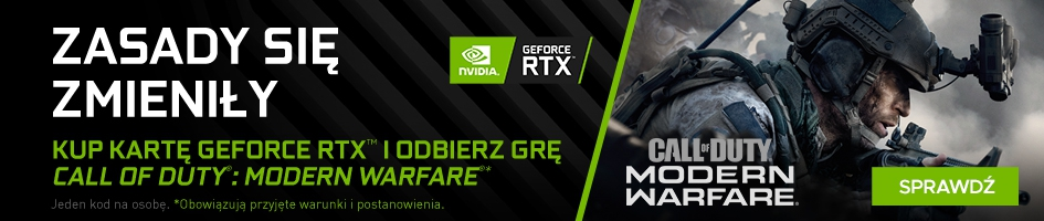 Kup Kartę Geforce RTX i odbierz grę Call of Duty Modern Warfare
