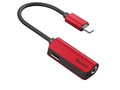 BASEUS ADAPTER AUDIO LIGHTNING DO JACK CZERWONY - CALL32-09