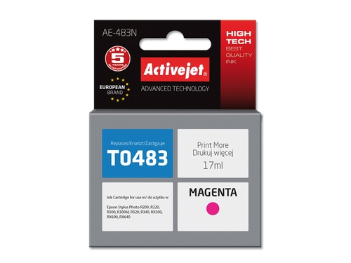Activejet  tusz Eps T0483 R200/R300 Magenta