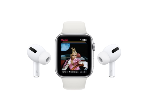 Apple Watch Series 6 GPS, 44mm Silver Aluminium Case with White Sport Band - Regular - M00D3WB/A