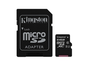 KINGSTON MICRO CANVAS SELECT UHS-I SDCS/64GB+ADAPT