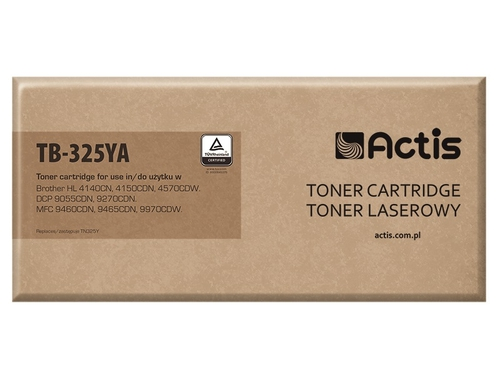 Toner Actis TB-325YA do drukarki Brother, Zamiennik Brother TN-325Y; Standard; 3500 stron; żółty.