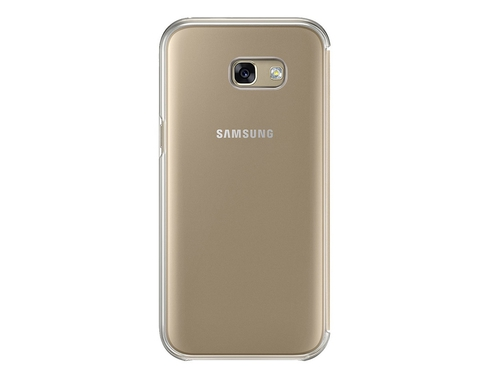 Etui SAMSUNG Clear view cover do A5 (2017) Złoty - EF-ZA520CFEGWW