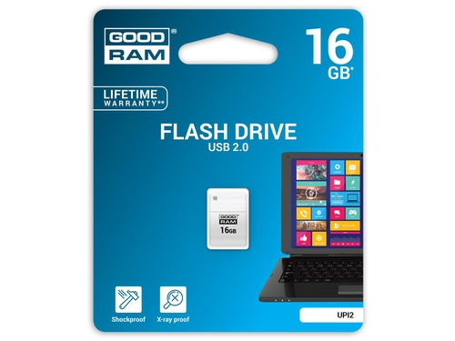 Pendrive Goodram Flashdrive Piccolo 16GB USB 2.0 biały - UPI2-0160W0R11