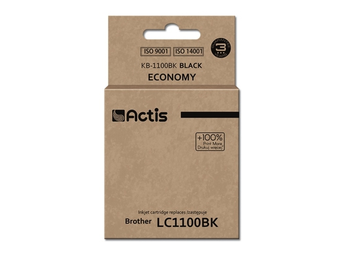 Actis tusz Brother LC1100/LC980 Black    KB-1100Bk