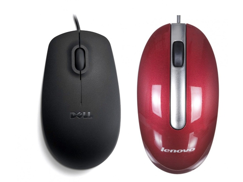Dell MS111 Wired Optical Mouse + Mysz optyczna Lenovo M3803_10 - C0451735