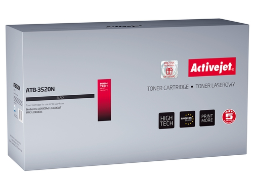 Toner Activejet ATB-3520N do drukarki Brother, Zamiennik Brother TN-3520; Supreme; 20000 stron; czarny.