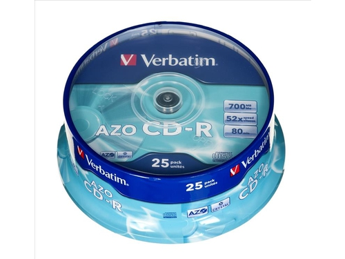 CD-R VERBATIM 52X 700MB CRYSTAL CAKE 25 - 43352