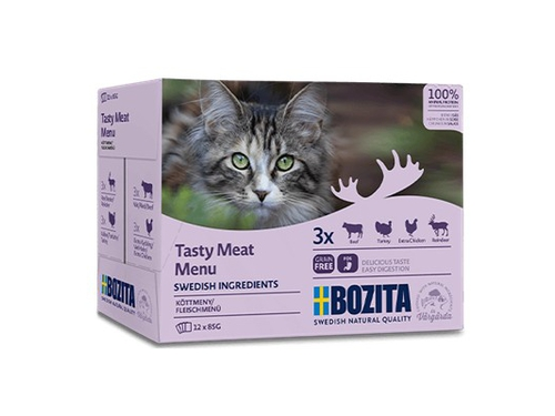 BOZITA Pouch Multibox Meat Menu 12x85g