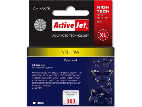 Activejet tusz HP 8773 Yellow ref. no363 AH-363YR