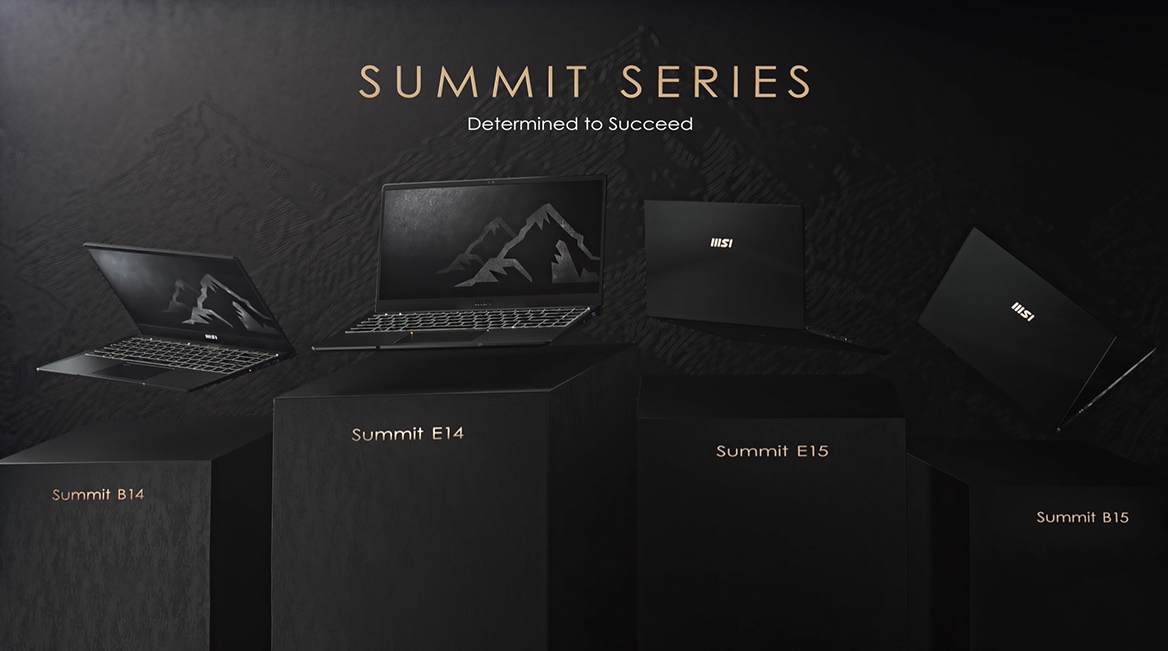 """#MSI Summit E14 A11SCST-073PL i7-1185G7 14"""" FHD Finger Touch panel 16GB LPDDR4 1TB NVMe PCIe Gen4x4 SSD GTX1650 Ti Max-Q 4GB Windows10 Pro without ODD"""