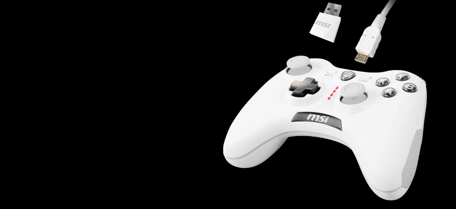 PAD MSI FORCE GC30 V2 WHITE GAMING CONTROLLER6