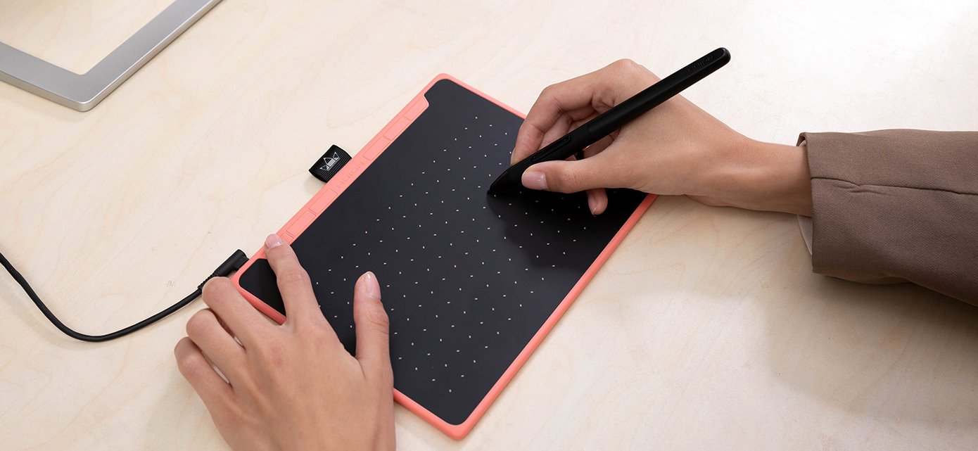 #Tablet graficzny Huion RTS-300 Pink