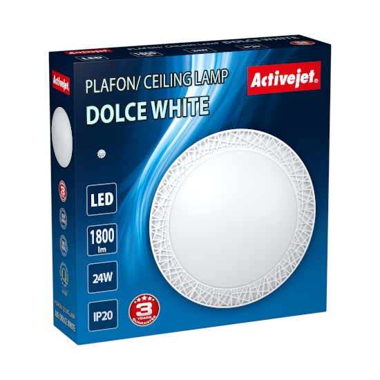 #Plafon LED Activejet AJE-DOLCE White