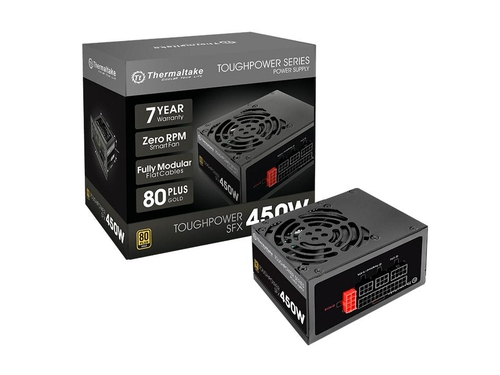 Zasilacz Thermaltake Toughpower SFX 450W Modular (80+ Gold, 2xPEG, 80mm) - PS-STP-0450FPCGEU-G