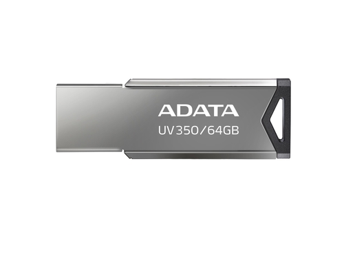 ADATA FLASHDRIVE UV350 64GB USB3.1 Metallic - AUV350-64G-RBK