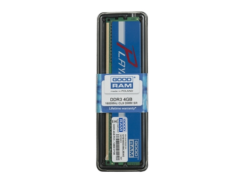 Pamięć RAM Goodram DDR3 PLAY 4GB PC1600 CL9 512x8 niebieski - GYB1600D364L9S/4G