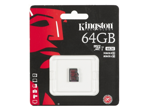 Karta pamięci MicroSDHC Kingston 64GB Class 10 SDCA3/64GBSP
